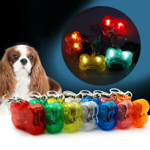 1x LED Dog Tag Collar Pet Puppy Flashing Light Pendant For Night Dogs 3 Models