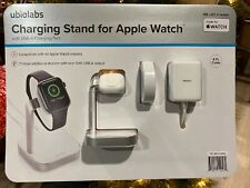 Ubio Labs Apple Watch Wireless Charging Station Stand Dock Dual Charger Usb-a