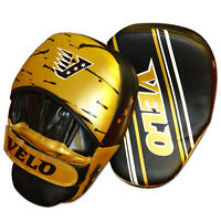 VELO Focus Pads,Hook & Jab Mitts Punching Kick Boxing Gloves Thai pad Curved mma