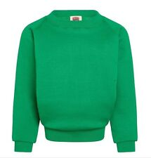 Plain Emerald Sweatshirt Children Boys Girls Sizes PolyCotton David Luke UK Made