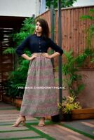 Indian Bollywood Kurta Kurti Designer Women Ethnic Dress Top Blue Tunic Kameez