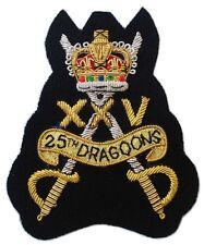 25th Dragoons Regiment, Blazer Badge Wire Bullion, LI-EMB-0006