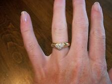Authentic Tiffany & Company 18k Gold Diamond Heart Ring Sz 5-1/2  $2,400