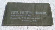 WORLD WAR 2 U.S.ARMY GAS COVER-PROTECTIVE-INDIVIDUAL 2-8-1945 Original Gear
