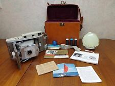 Vintage Polaroid 800 Land Camera Diffuser Bounce Flash Bracket Case Pamplets