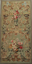 "36.5""x75"" Reproduction Handwoven FRENCH AUBUSSON TAPESTRY PORTIERE-Cherubs"