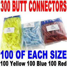 (300) Wire Butt Connectors Red/Blue/Yellow Nylon 100 ea