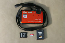 Nikon COOLPIX AW110 16.0MP Digital Camera - Orange SD Card 64GB