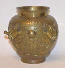 Antike Vase sehr selten aus Messing mit Drachen Fach C5