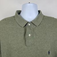 Polo Ralph Lauren Long Sleeve Sage Green Mens Adult Polo Shirt Size XL