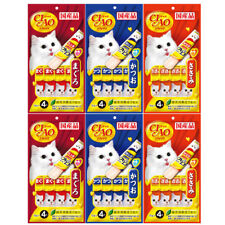 Ciao Inaba Lickable Paste Treats Snack Churu Purée Treat Cat Lick Wet 4X15g
