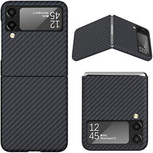 Original Aramid Carbon Fiber Case Slim Cover Skin For Samsung Galaxy Z Flip 3 5G