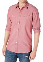 American Rag Mens Shirt Worn Red Size Small S Herringbone Button Down $45 009