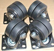 """4x 3"""" Heavy Low Gravity Castor Swivel Wheels 250kg per Load /Nylon Core $31.99"""