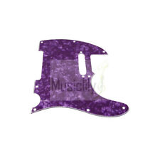 Pearl Purple 4Ply 8 Hole Pickguard For Fender Standard Tele Telecaster Guitar