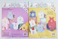 2 Vintage Beatrix Potter No Sew Fabric Applique JCA Inc Made in USA