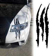 Black Scratches Stripe Headlight Car Truck SUV Vinyl Decal Rear Trunk Sticker