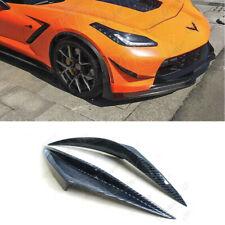 for Corvette C7 Carbon Fiber Front Bumper Side Splitter 2014-2019
