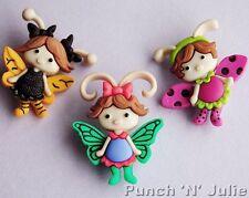 Flutter Bugs-Fata APE FARFALLA COCCINELLA BIMBA ALI dress It Up Bottoni Craft