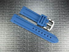 NEW 24mm Blue Soft Rubber Diver Strap Watch Band X Pam 1950 24 mm D