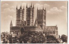 Lincoln Cathedral PPC, 1929 Market Rasen PMK to Miss Tyson, Birkdale