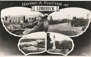a irish limerick shannon power scheme eire old postcard ireland collecting
