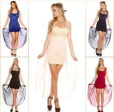 Sexy high-low-vestido dress cóctel vestido de fiesta vestido de noche minivestido con punta