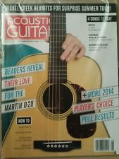 Acoustic Guitar Player's Choice Poll Results Martin D-28 Aug 2014 FREE SHIPPING