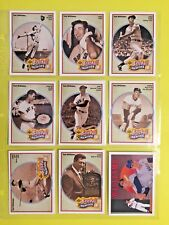 Ted Williams 1990 Upper Deck Baseball Heroes set of 9 & NNO
