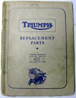 TRIUMPH Speed Twin Thunderbird Tiger 1956 #No. 12 Motorcycle Owners Parts List