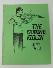Star Trek Fanzine The Ermine Violin 1978 Volume I Issue Number 2 1st Print