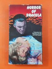 HORROR OF DRACULA Christopher Lee 1989 Warner VHS TAPE