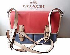 NWT Coach F23383 Park Colorblock Leather Handbag Crossbody $298 Red Blue