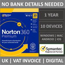 Norton 360 Premium 2021 | 10 Device | 1 Year Subscription Antivirus Security VPN
