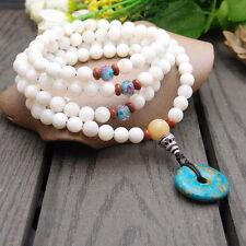 Lotusmind Masaragalva conch shell 7 mm 108 prayer bead mala