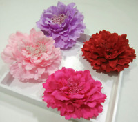NEW Beautiful Large Fabric Flower Hair Clip, 32 Colours, UK Seller