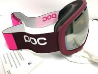 $145 POC Fovea Ski Goggles Granate Red Bronze Silver Mirror Lens NWT Snowboard
