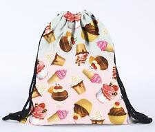 Fashion Men Women Unisex Backpack Emoji 3D Print Travel Bags Drawstring Backpack