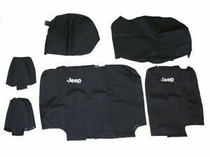 13-18 Jeep Wrangler 4 Door New Rear Seat Cover Set Black Vinyl Mopar Factory Oem