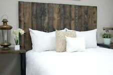 Ebony Headboard Stain, Hanger Style, Handcrafted. Mounts on Wall.