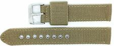 New Condor Nylon Canvas Watch Strap Band 20mm Khaki with Free Spring Bars - 112G