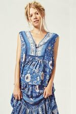 Spell And The Gypsy Collective Design Zahara Sleeveless Blouse Navy Top NWT -XL