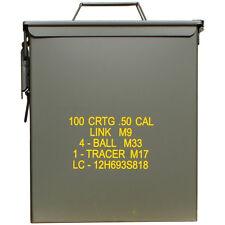 Mil-tec M9 gran Cal.50 Munición militar caja Metálica airsoft herramienta Almace