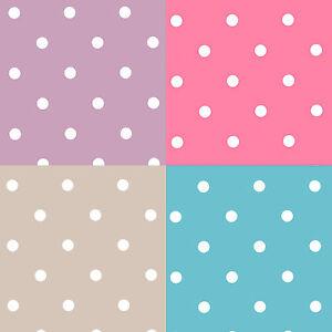 Small Polka Dot PVC Vinyl Tablecloth Choose Size & Colour Pink Blue Taupe Purple