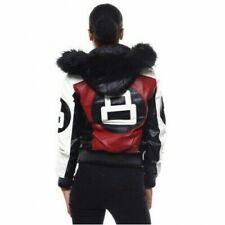 Hot Women's Stylish Bomber Robert Phillipe 8 Ball logo Jacket with Fur Hood