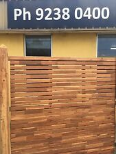 Plantation Hardwood Checker Fence Privacy Screening Screens 1800m x1800m Fencing