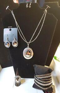 Paparazzi Jewelry Fashion Fix Silver 4-pc Set J91