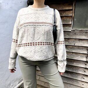 Vintage Grandad Jumper - Size Large / 8 10 12 14 16 / sweater 90s