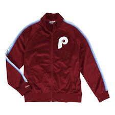 Philadelphia Phillies Mitchell & Ness MLB Full Zip Track Jacket - Maroon