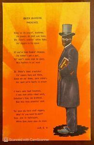 BR'ER Johnsing Preaches Postcard Black Americana Down South Kropp Publisher